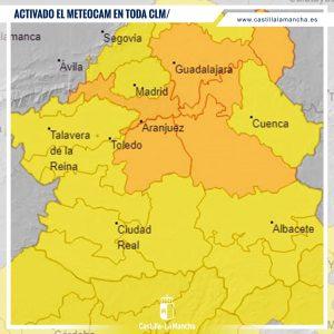 Activado el METEOCAM en fase alerta en toda Castilla La Mancha ante la previsión de fuertes lluvias y tormentas