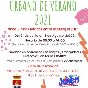 Campamento urbano de verano 2021