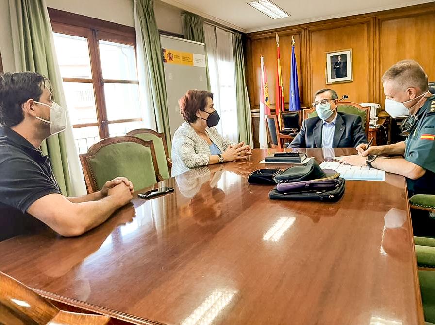 La Alcaldesa de Bargas se reúne con el Subdelegado del Gobierno y el Coronel de la Guardia Civil de la provincia de Toledo