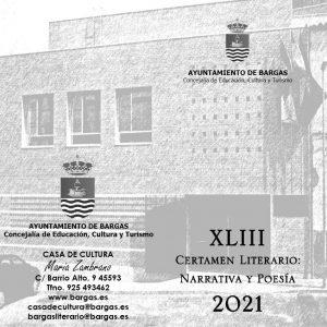 Bases del XLIII Certamen Literario: Narrativa y Poesía