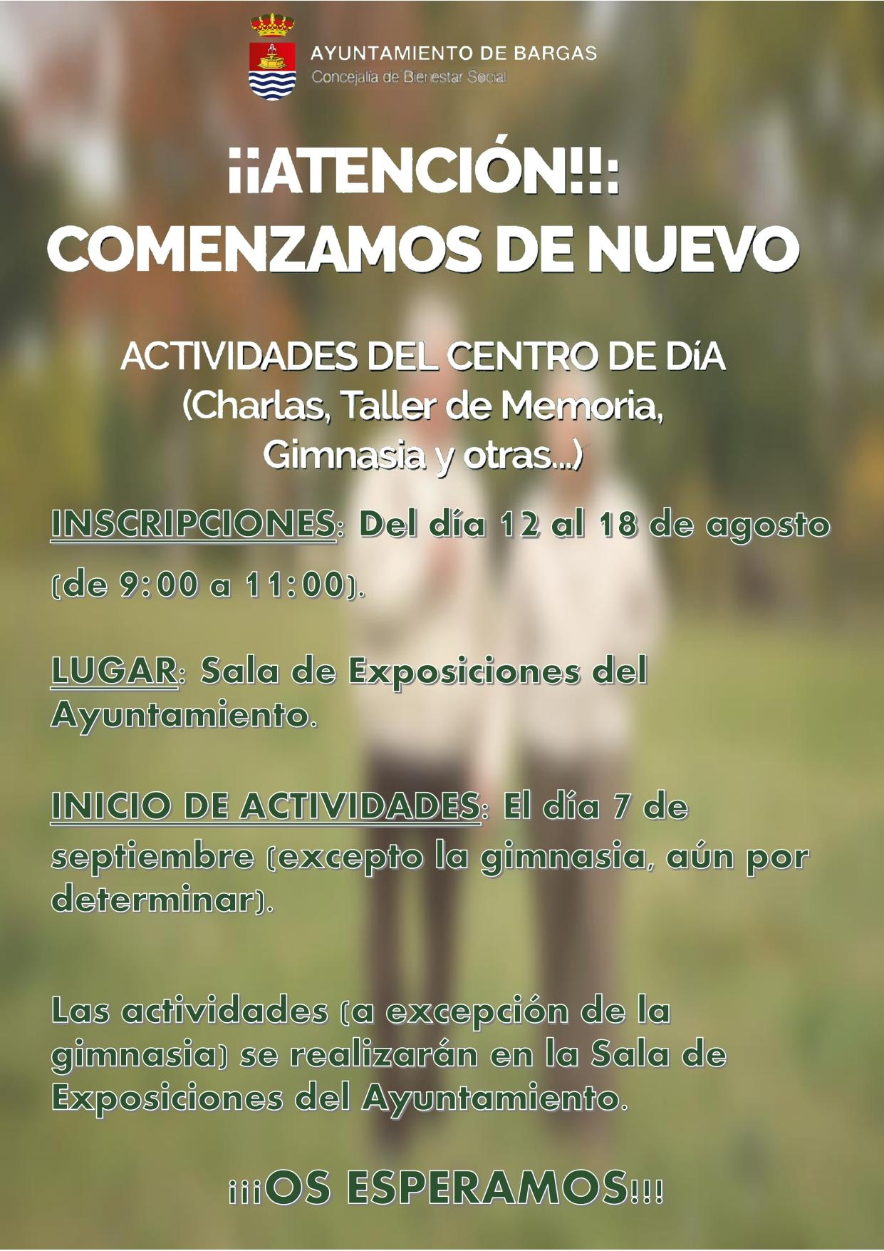 Actividades del Centro de Día