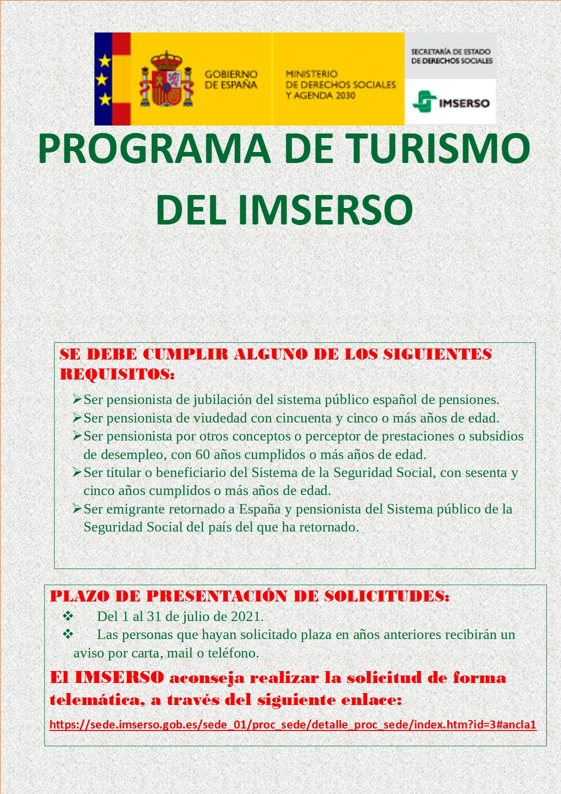 Programa de Turismo del IMSERSO