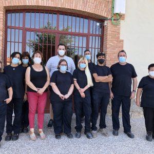 La Alcaldesa de Bargas visita el Taller de Empleo «ECOBARGAS»
