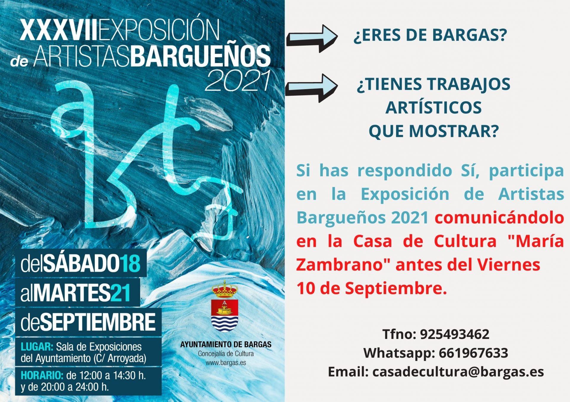 XXXVII Exposición de Artistas Bargueños 2021