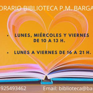 Nuevo horario Biblioteca Municipal
