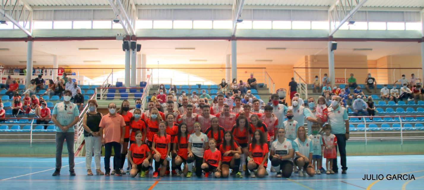 Presentación de los equipos femenino y masculino del A.D. Bargas