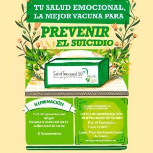 El Ayuntamiento de Bargas se adhiere a la campaña «Tu salud emocional la mejor vacuna para prevenir el suicidio»